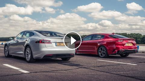 Tesla Model S Vs Kia Stinger Gt S Drag Races Top Gear