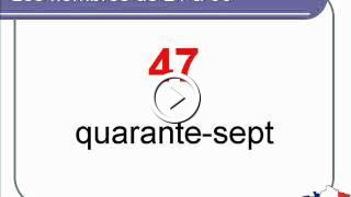 French Lesson 9 - Numbers from 0 to 100 (part 2) Les nombres