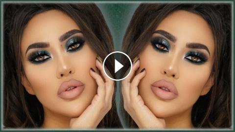 EMERALD GREEN HOLIDAY GLAM + Full Face Makeup Tutorial | BrittanyBearMakeup