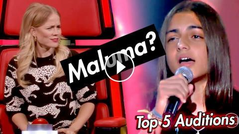 Top 5 BEST Blind Auditions on The Voice Kids 2018 - The